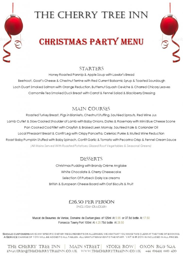 Christmas parties henley on thames